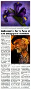 Red Rock News features Bob Coates Photography in Story
